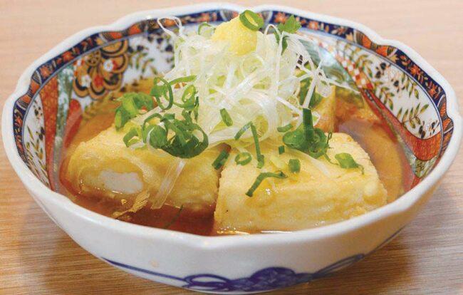 ゴールデン・ポークの揚げ出し豆腐