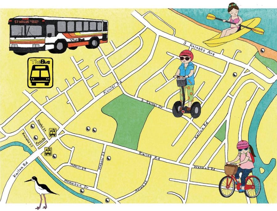 カイルア観光地図