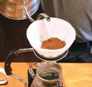 コーヒー豆をフィルターに