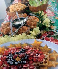 ツアー中の朝食
