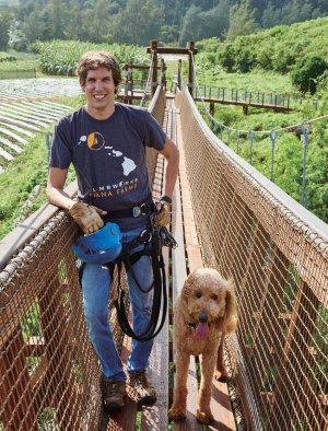 ジップライン ニックさんと犬