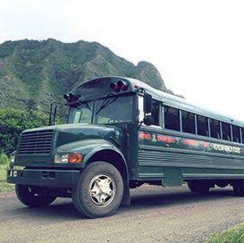 クアロア牧場のバス