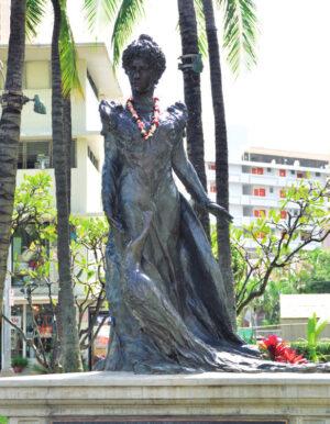 プリンセス・カイウラ二の像