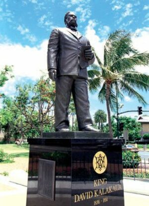カラカウア王の銅像