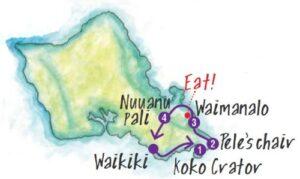 ドライブコース1の地図