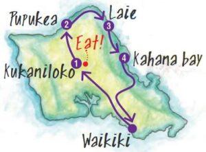 ドライブコース2の地図