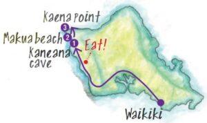 ドライブコース3の地図
