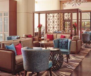 ロイヤルハワイアンホテルのロビーエリア