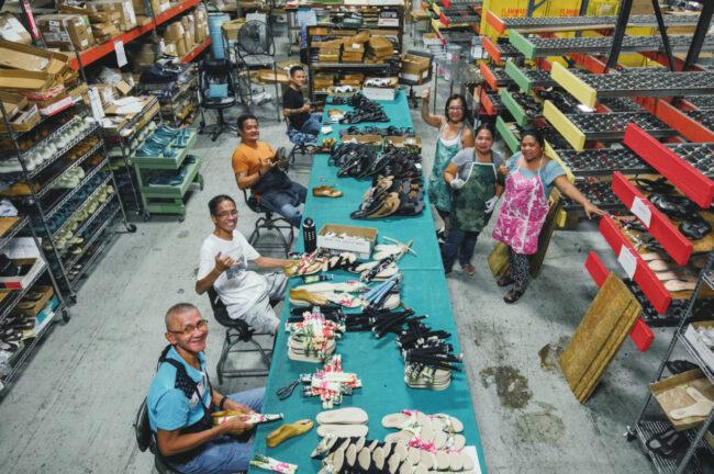 ハワイ・パールシティーにあるアイランド・スリッパの工場
