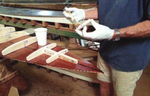サーフボードの骨組み