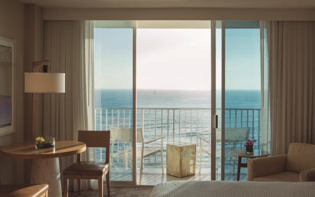 アロヒラニ:客室からのワイキキビーチ